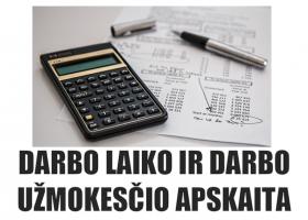 N10 – Darbo laiko ir darbo užmokesčio apskaita (nuotoliniu būdu)