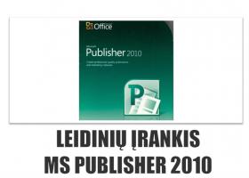 N23 – Leidinių įrankis MS Publisher 2010 (nuotoliniu būdu)