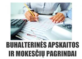 Buhalterinės apskaitos ir mokesčių pagrindai Vilniuje (rytiniai) 80 ak. val.